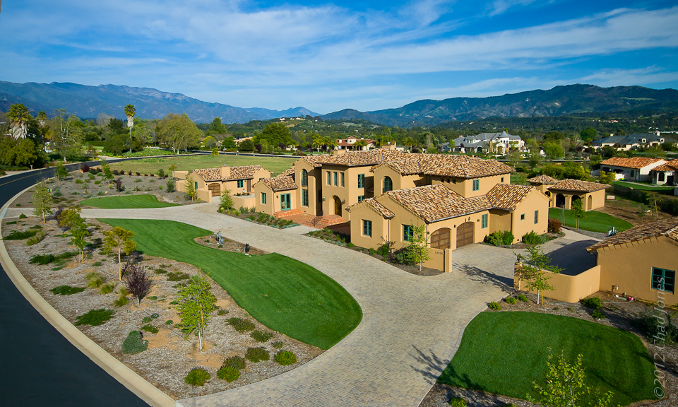 Rancho Matilija Estate Aerial in Ojai CA