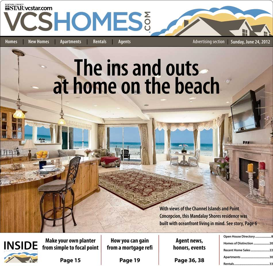 Ventura County Star Cover for 1061 Mandalay Beach | June 24, 2012