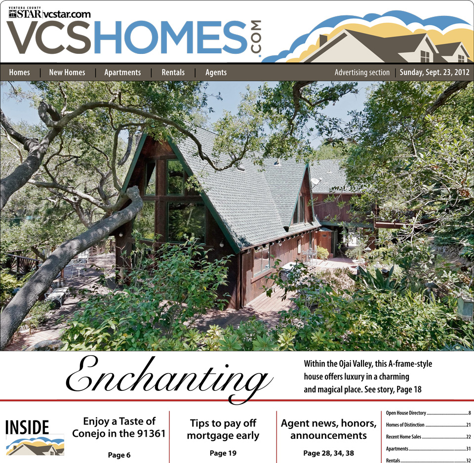 Ventura County Star Cover for 2460 Valley Meadow | September 23, 2012