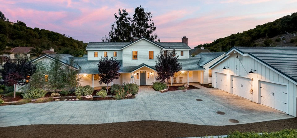 Somis Valley Estate Twilight Exterior