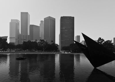 LA City Skyline from DWP Building