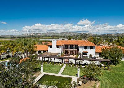 Somis California Spanish Mediterranean Estate Aerial
